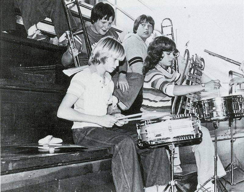 Kurt Cobain Plays Drums At Moltesano High