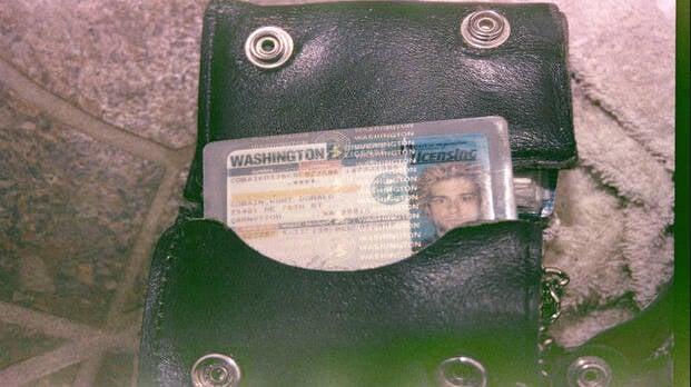 Kurt Cobain's Wallet And License