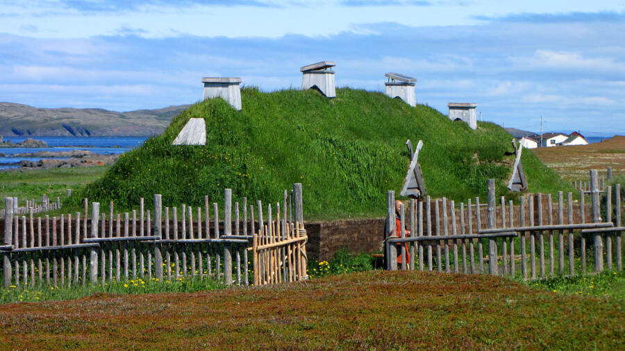 Traditional Norse Longhouse In Canada