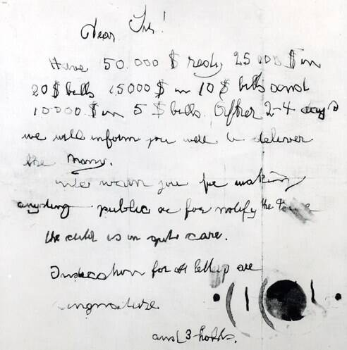 Lindbergh Kidnapping Ransom Note