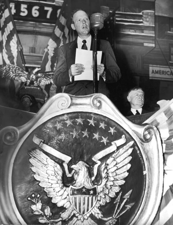 Lindbergh Speaking At An America First Rally