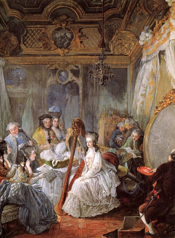 Marie Antoinette In Her Salon
