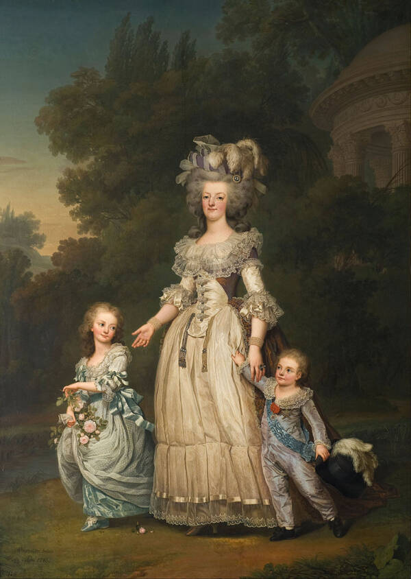Marie Antoinette With Marie Therese Charlotte And Louis Joseph