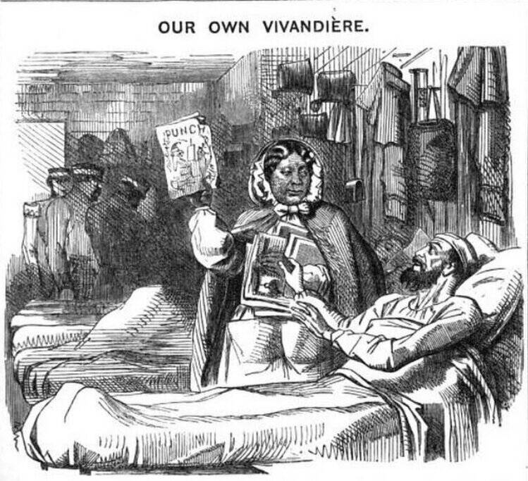Seacole In A Punch Cartoon