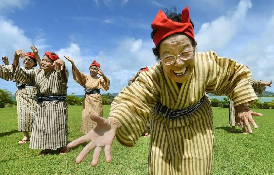 Old Japanese Ladies Dancing