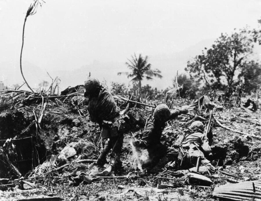Pacific Theater Battlefield In Saipan