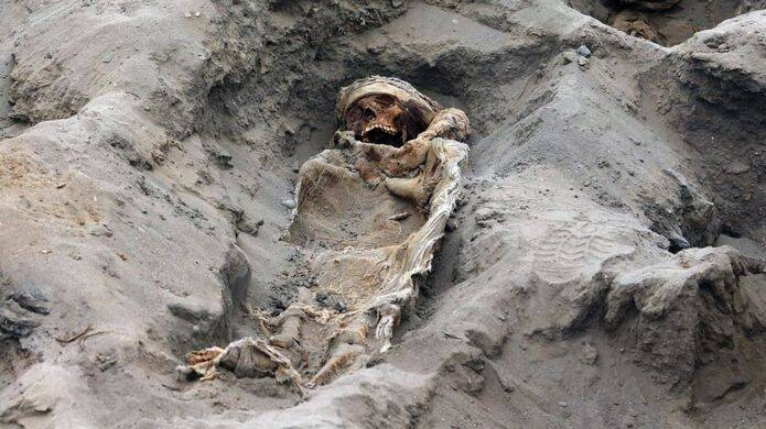 Skeleton Of Sacrificed Child