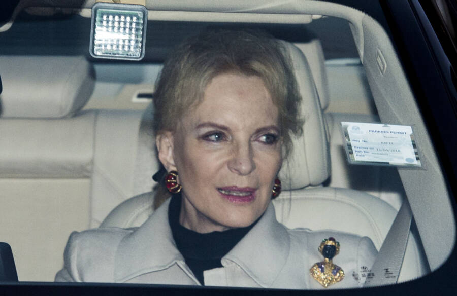 Princess Michael Wearing Blackamoor Brooch