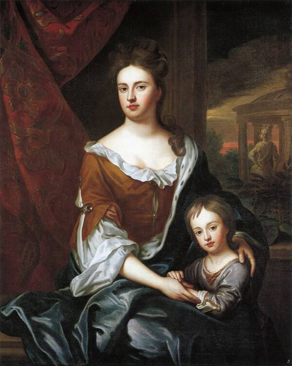 Queen Anne And Her Son William