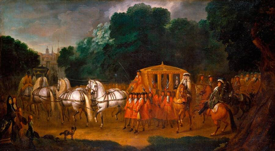 A Depiction Of Queen Anne's Coronation Procession