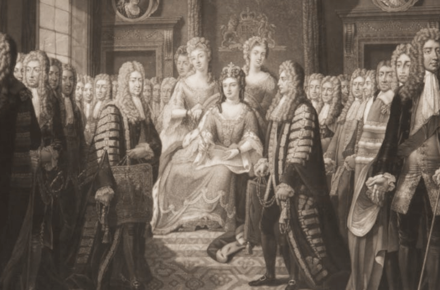Queen Anne Receiving The Acts Of Union