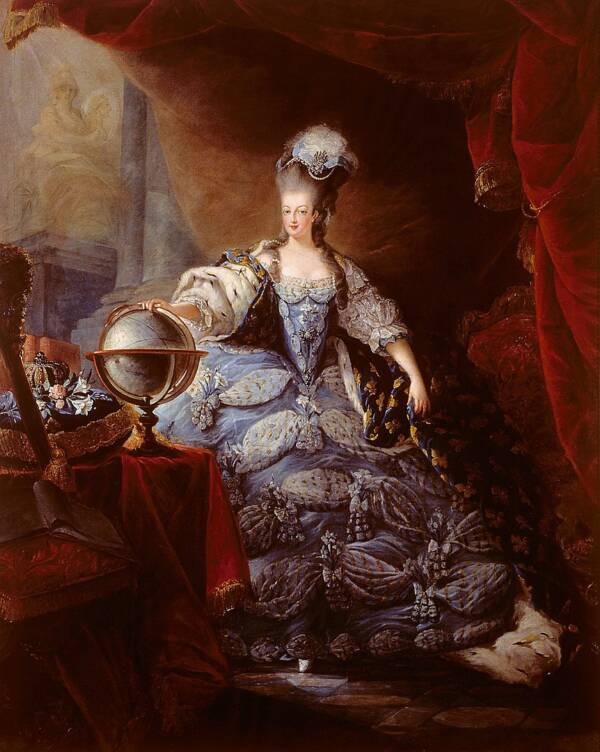 Queen Marie Antoinette Poses For Portrait