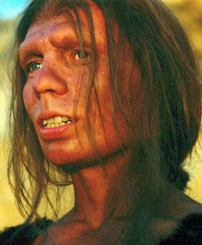 Reconstruction Of Female Neanderthal Face