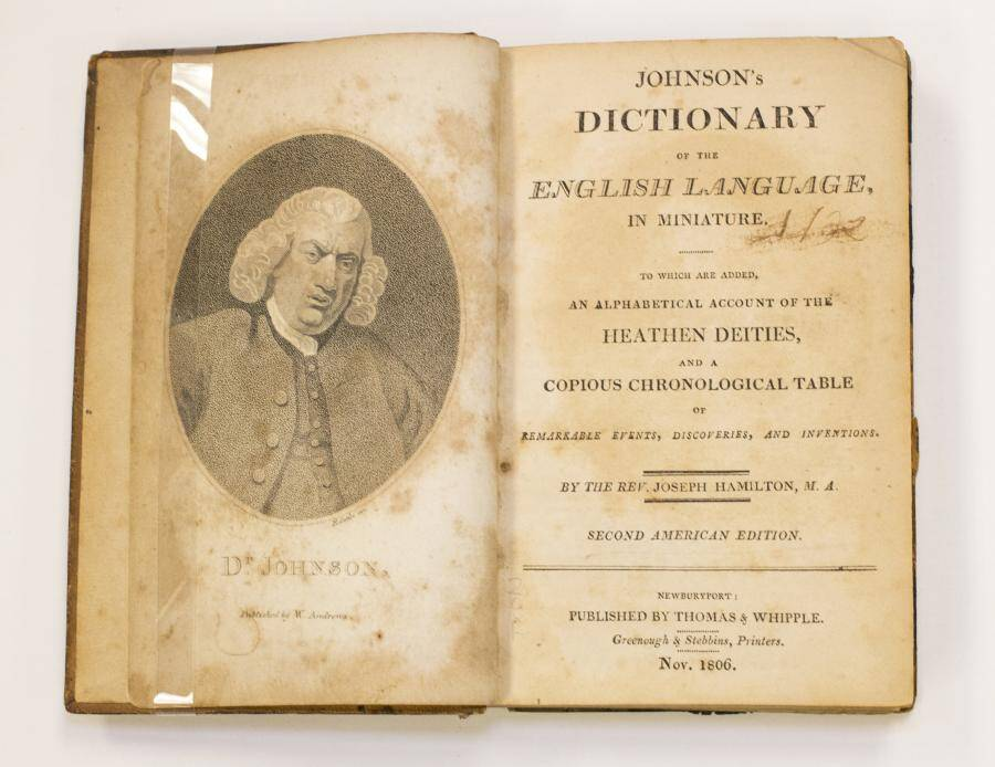 First Page Of A Dictionary Of The English Language