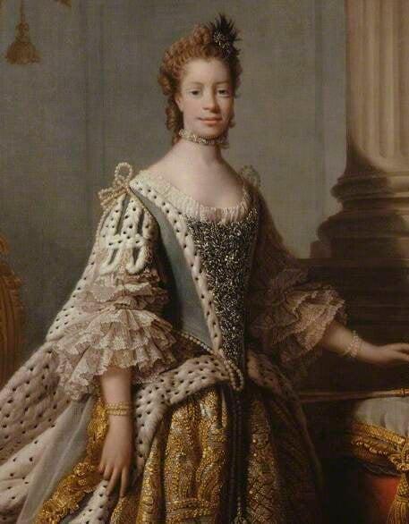 Sophia Charlotte Portrait By Allan Ramsay