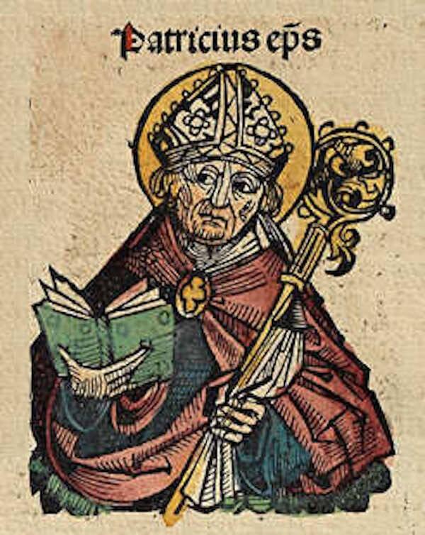 St Patrick Nuremberg Chronicle Illustration