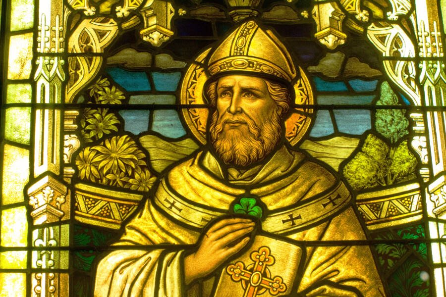 St Patrick Stained Glass Window In Smith Museum