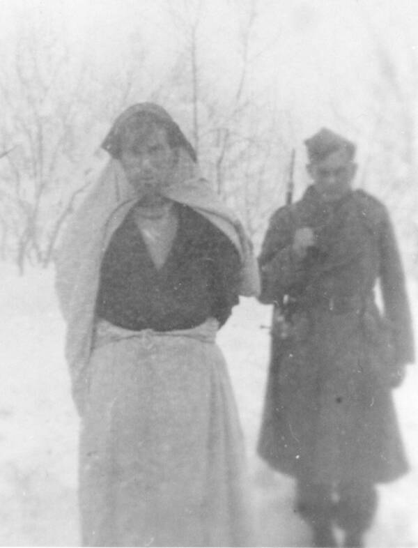 Ustaše Soldier Disguised As A Woman