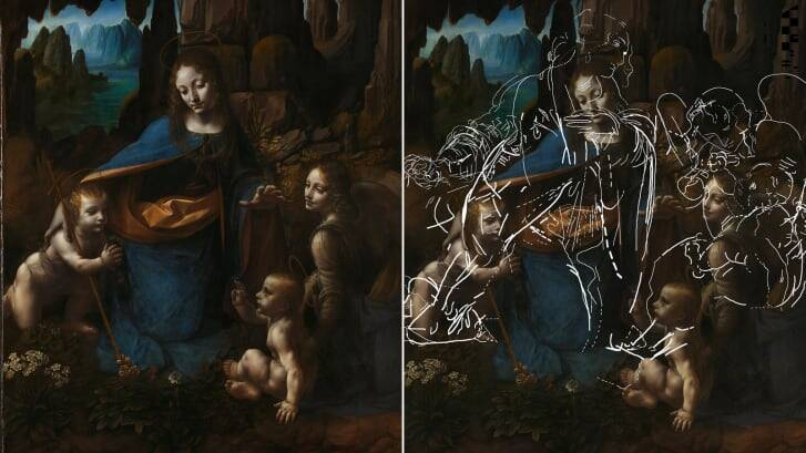 Hidden 'Virgin Of The Rocks' Painting