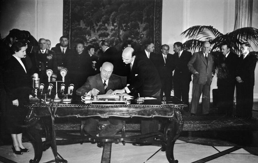 Signing The Warsaw Pact