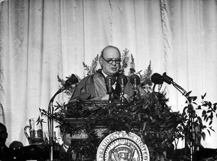 Winston Churchill Iron Curtain Speech