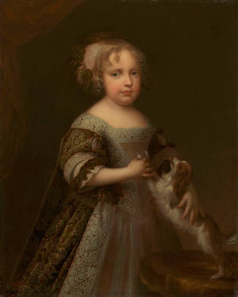 Painting Of A Young Queen Anne