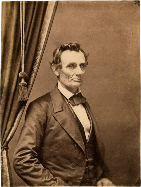 1858 Portrait Of Abraham Lincoln