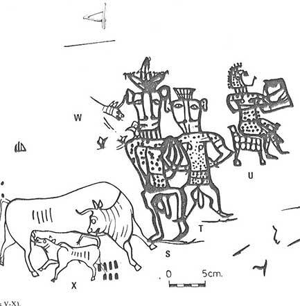 A Duplication Of The Drawings Found In Kuntilat Ajrud