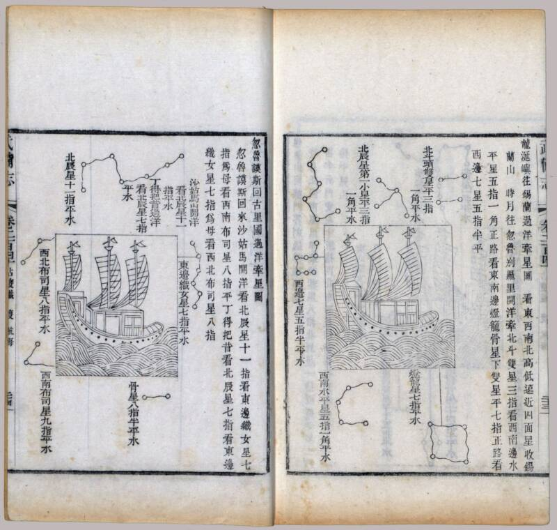 Ancient Map Of Zheng Hes Voyages