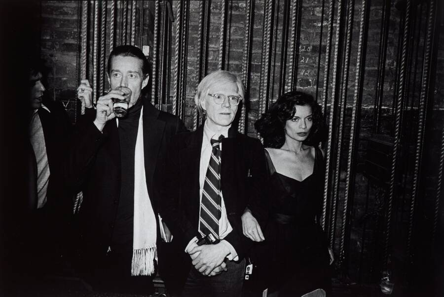 Andy Warhol With Bianca Jagger And Halston