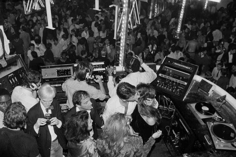 Andy Warhol With Brooke Shields In Studio 54