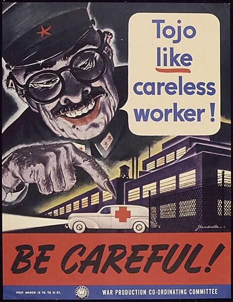 Anti Japanese Propaganda Poster With Tojo