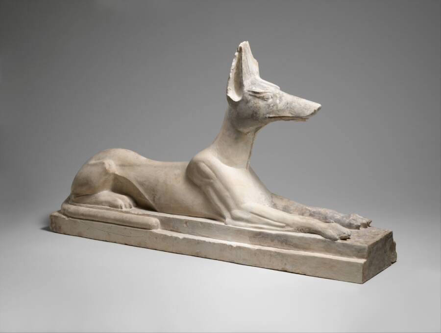 Statue Of Anubis In Animal Form