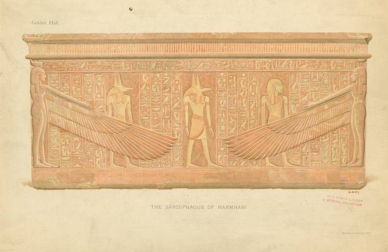 Anubis On The Sarcophagus Of Harmhabi