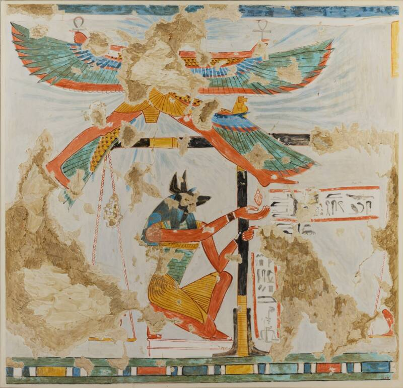 Anubis Weighing The Heart