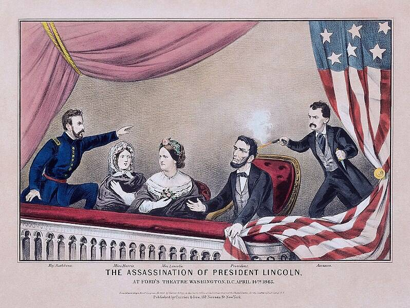 Assassination Of President Lincoln Illustration