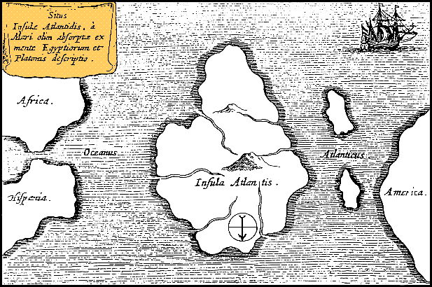 Atlantis Map By Athanasius Kircher