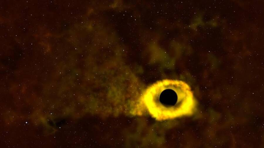 Black Hole And Destroying Star