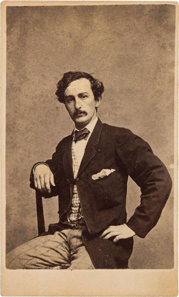 Carte De Visite Of John Wilkes Booth