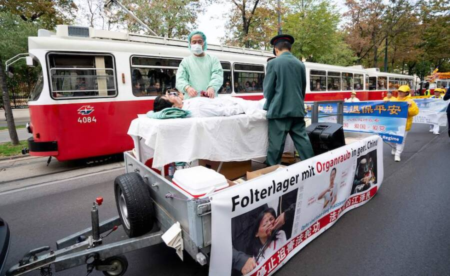 Protest Against Organ Harvesting In China