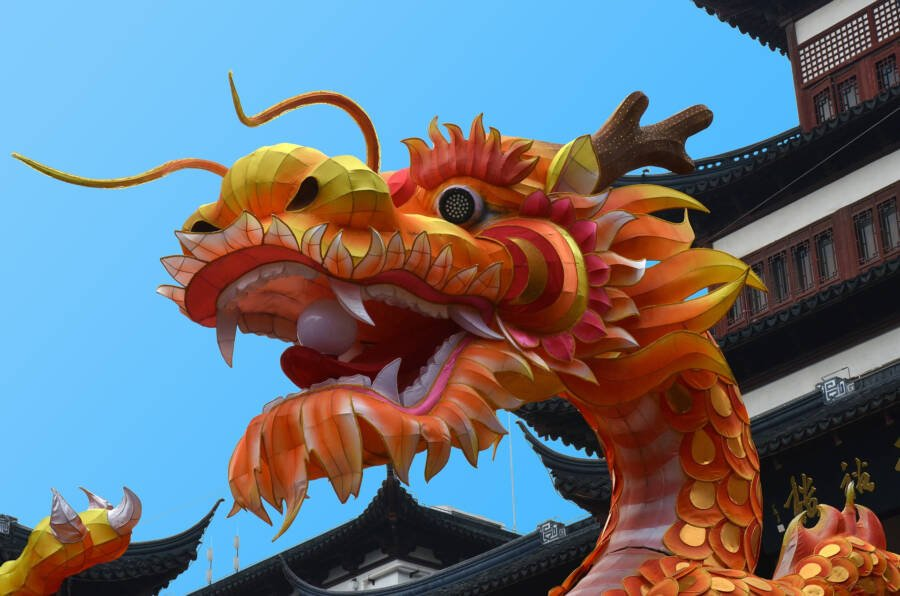 Chinese Dragon In Shanghai