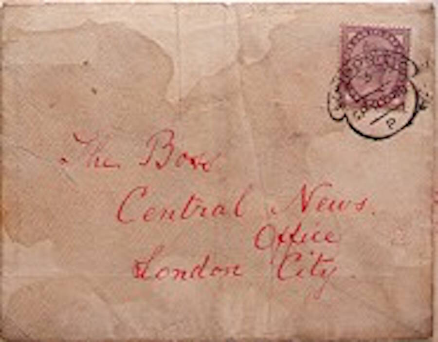 Envelope From Jack The Ripper