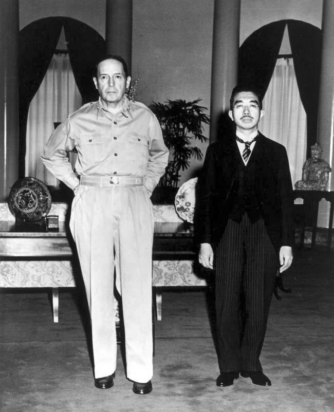 Douglas MacArthur Emperor Hirohito