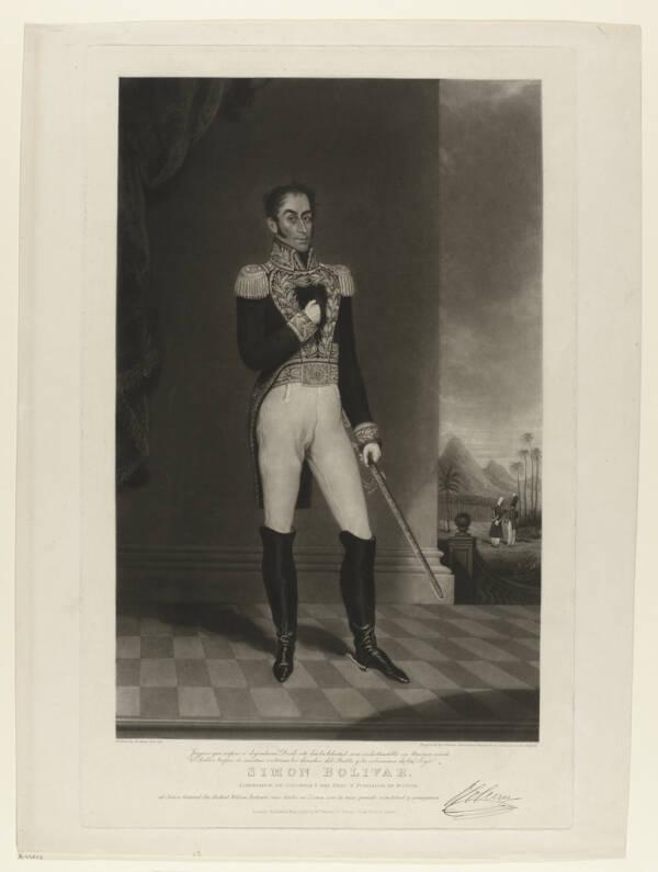 Full Body Portrait Of Simon Bolivar