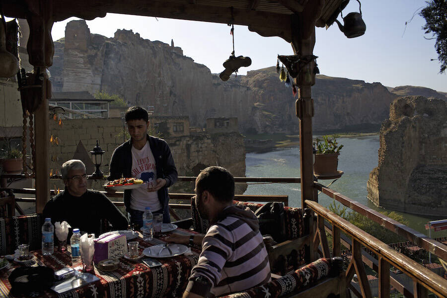 Guests Eating At Hasankeyf Restaurant