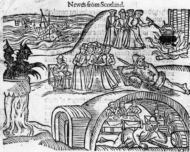 Illustration Of The North Berwick Witches