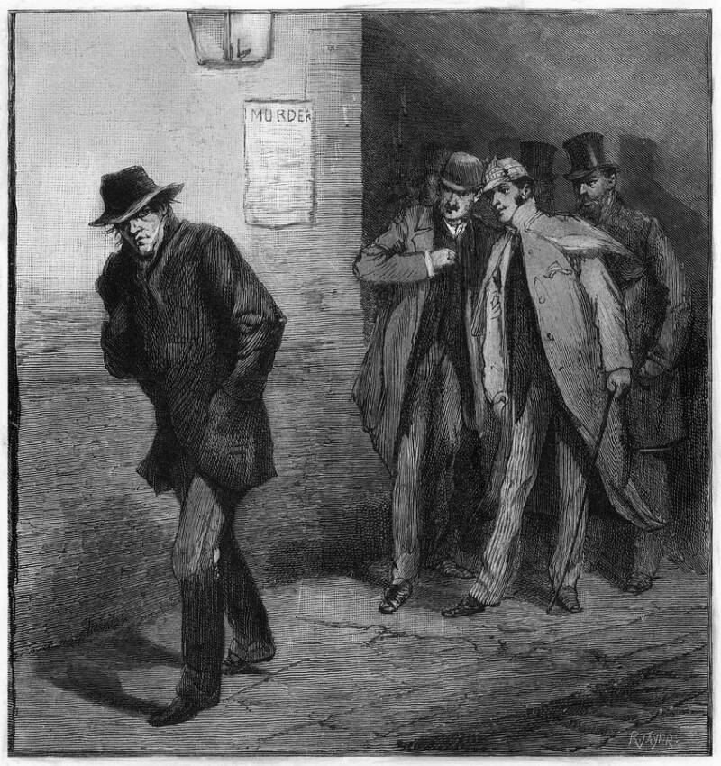 Illustration Of The Whitechapel Murderer