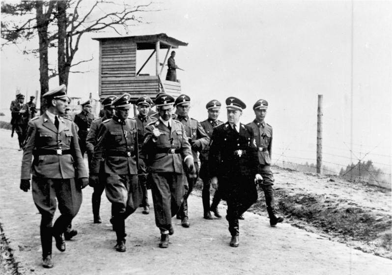 Inspection Of Nazi Mauthausen Camp