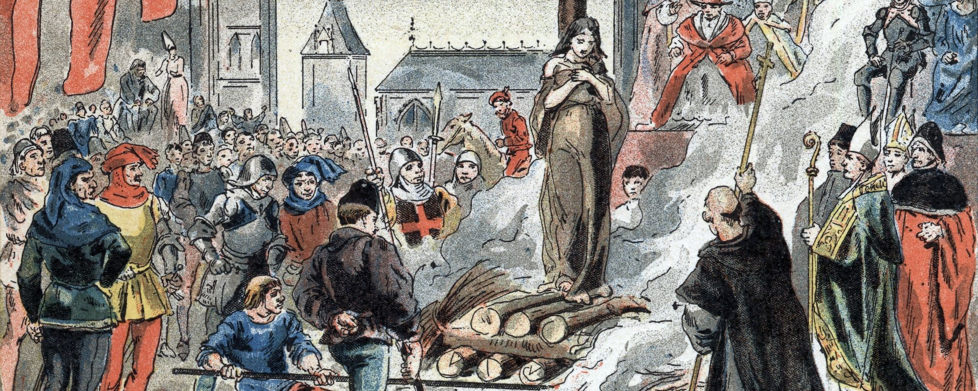 Joan Of Arc Being Burned