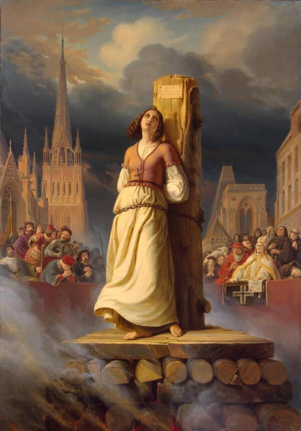 Joan Of Arc Death At The Stake